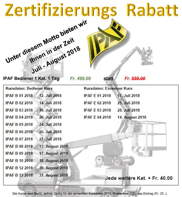 IPAF Zerti Rabatt